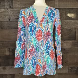 Long Sleeve Tunic Lilly Pulitzer Odette Minnow